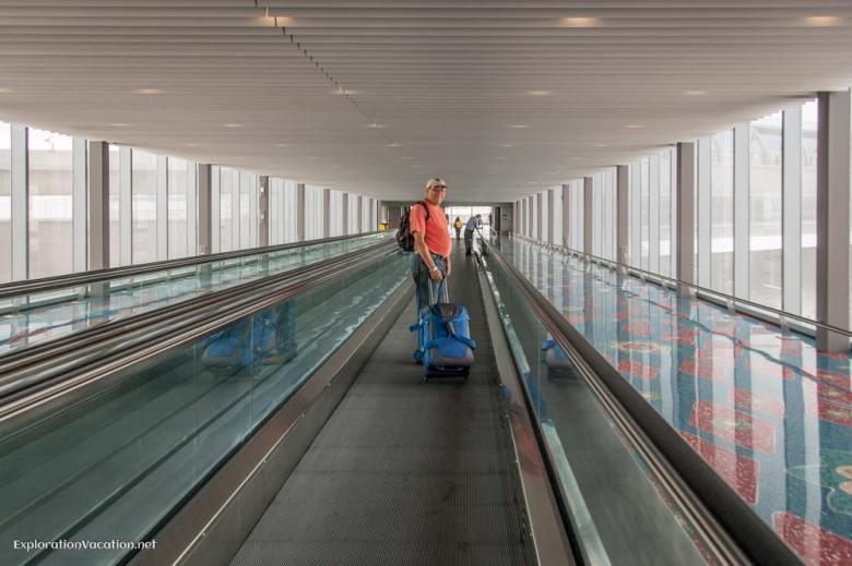 moving walkway from Sky Train to Terminal 3 - ExplorationVacation.net