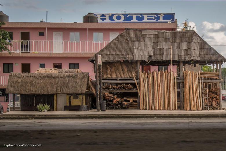 lumber yard in Playa del Carmen Mexico - ExplorationVacation.net