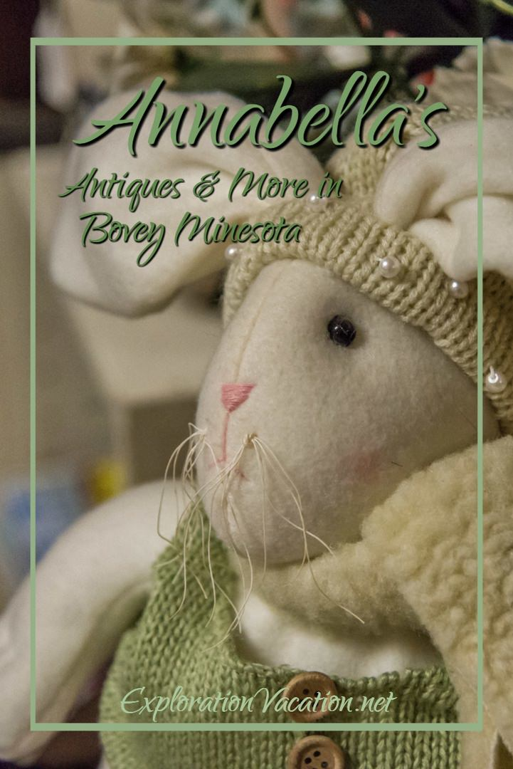 Annabella's in Bovey Minnesota USA sells charming bunnies and a whole lot more - ExplorationVacation.net