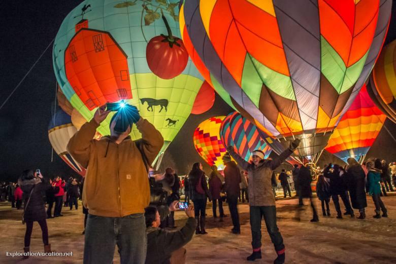 Moonglow at the Hudson Hot Air Affair - ExplorationVacation.net