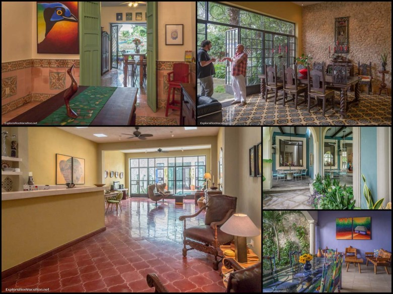 Merida Mexico English library house tour - 12 living spaces - ExplorationVacation
