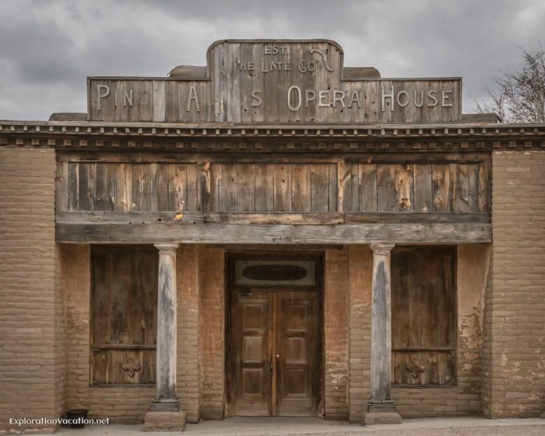 historic opera house in Pinos Altos New Mexico - ExplorationVacation.net