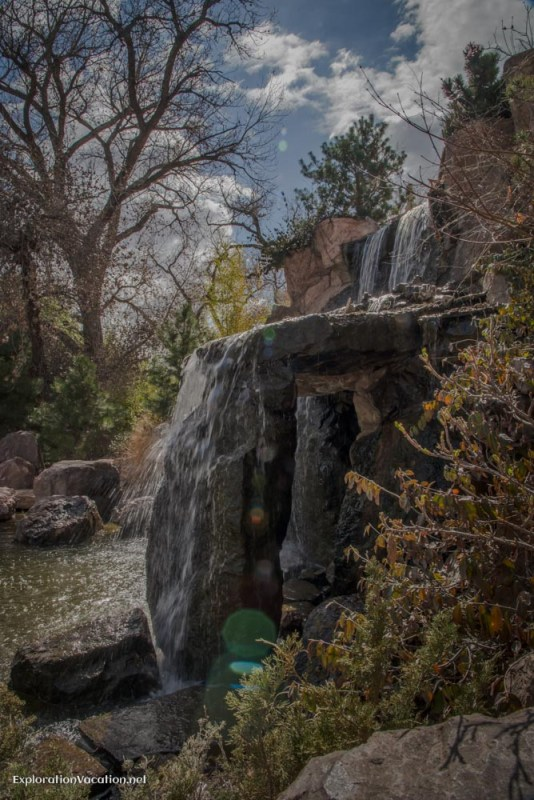 In the gardens at the Albuquerque Bio Park - ExplorationVacation.net
