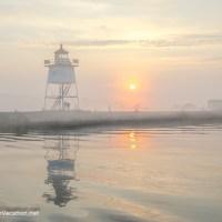Sailing across Lake Superior to Grand Marais, Minnesota