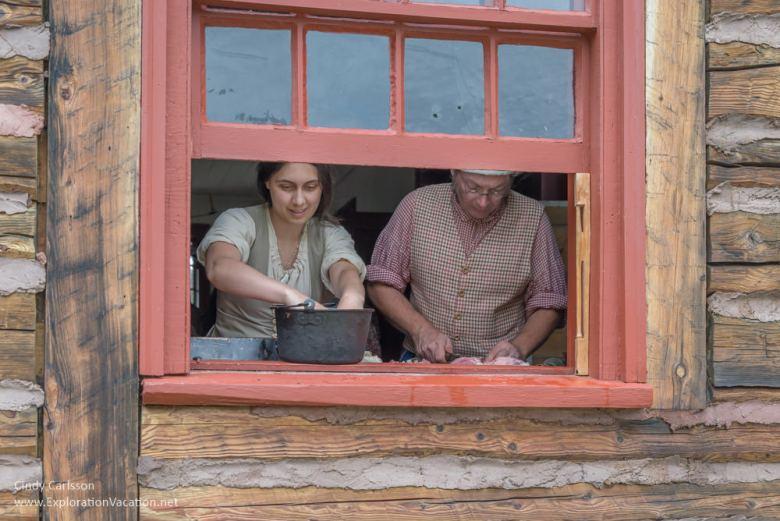 Kitchen staff at work at Grand Portage Monument Minnesota