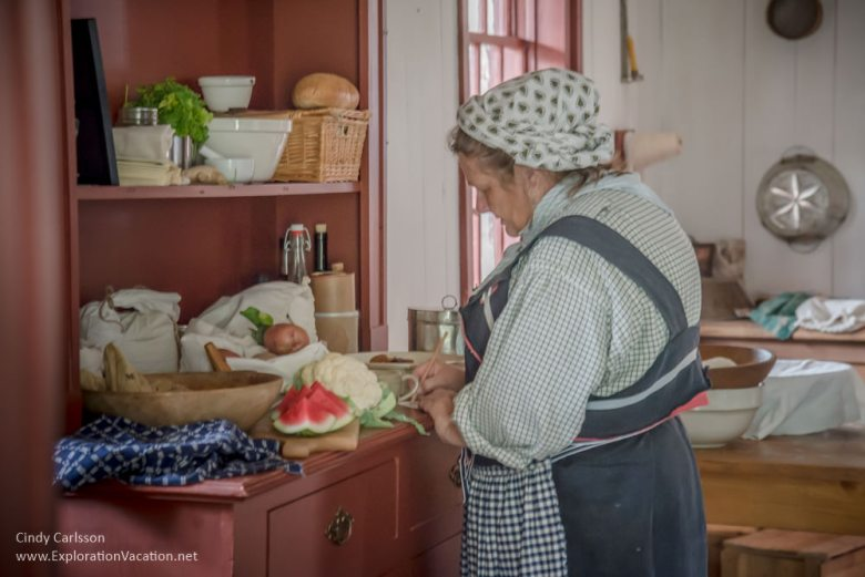 Kitchen staff at work at Grand Portage Monument Minnesota