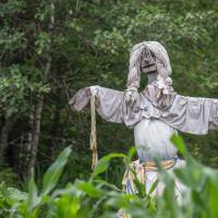 scarecrow at Grand Portage National Monument in Minnesota
