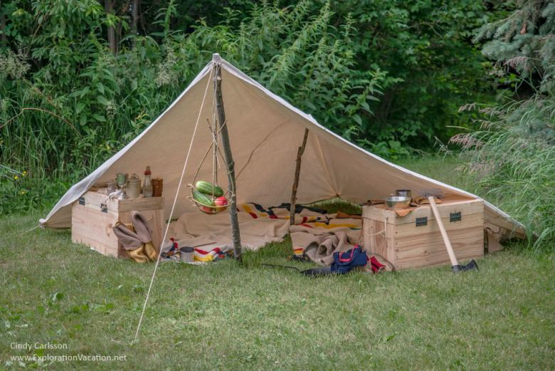 Voyageurs camp at Grand Portage Monument Minnesota