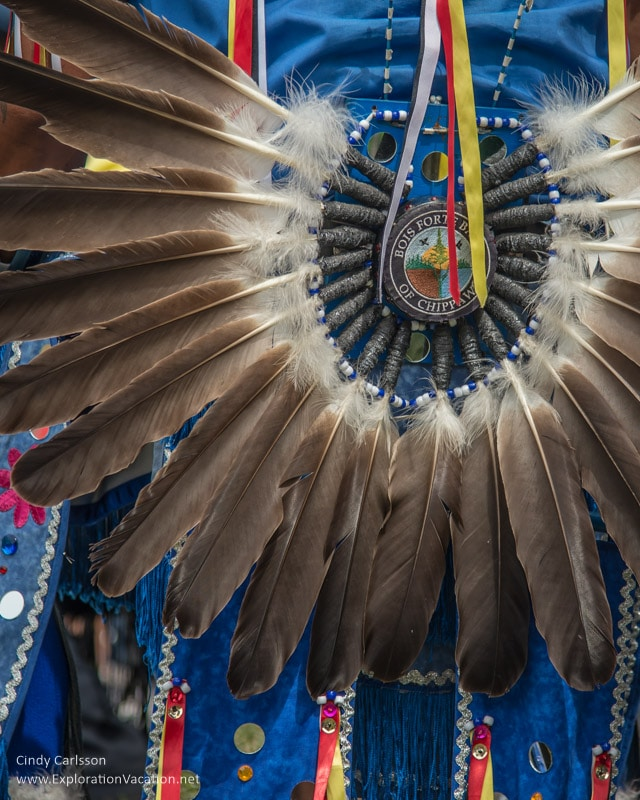 feather bustle Grand Portage Powwow