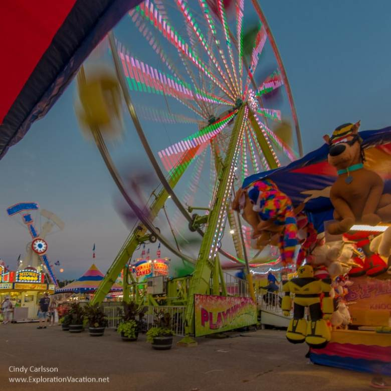 night on the midway at the Minnesota State Fair