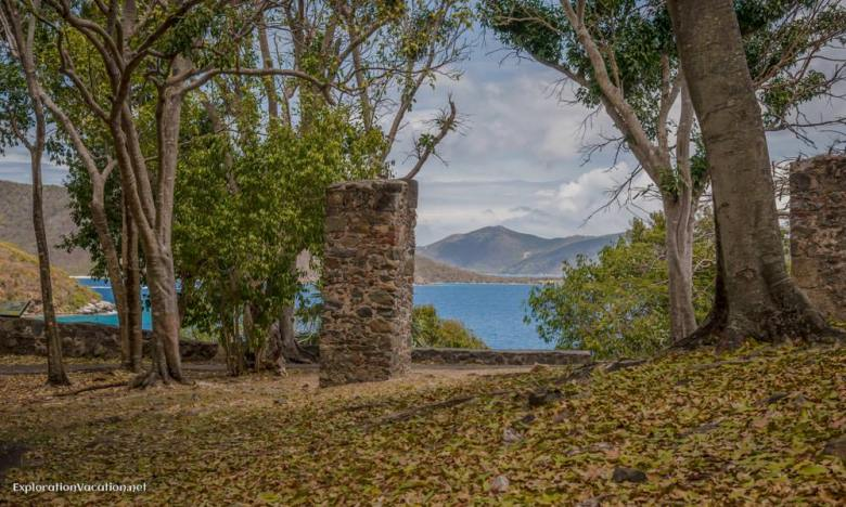 view from Annaberg sugar mill ruins St John USVI