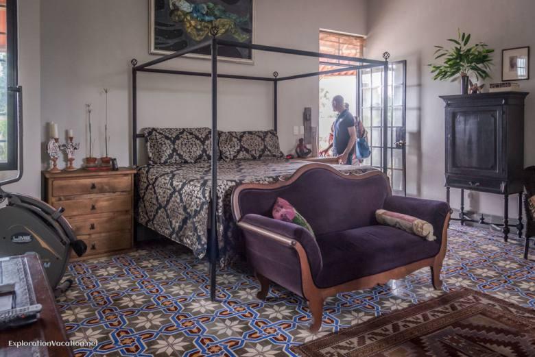 master bedroom - house tour in Merida