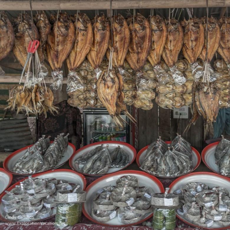 dried fish at Nam Ngum market Laos