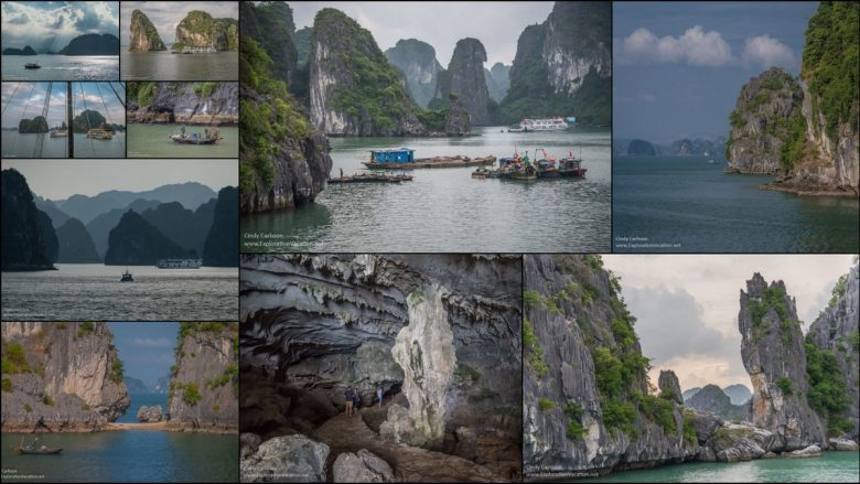 collage of Halong Bay