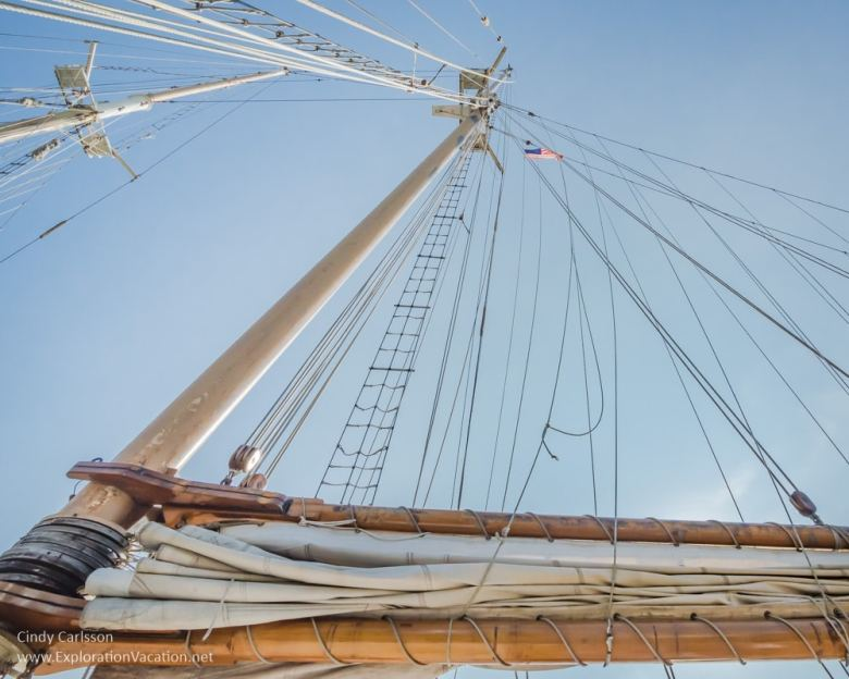 looking up at the rigging