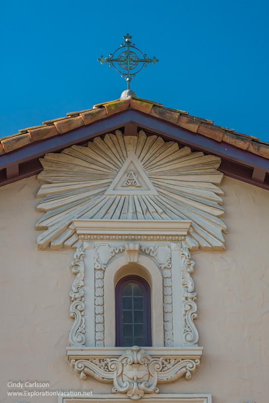 facade detail Mission Santa Clara de Asís