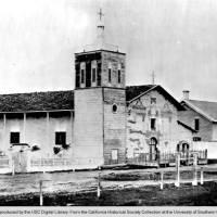dilapidated exterior of church