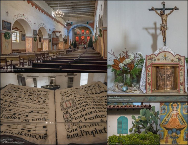 inside view, bible, alter, outside with cacti