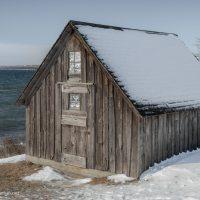 fish shack along the lake