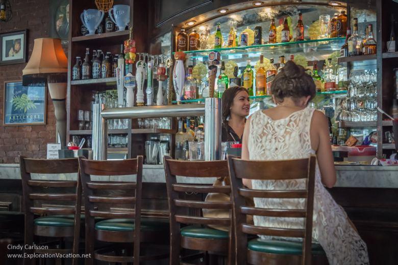 bar at Artichoke Pizza