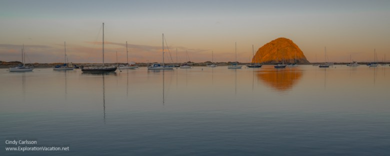 Morro Rock at sunrise