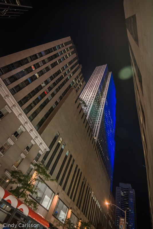 looking up at 30 Rockefeller Plaza