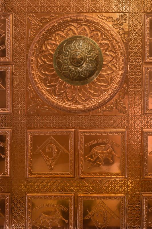 copper ceiling at the Copper Art Museum Clarkdale AZ - ExplorationVacation.net
