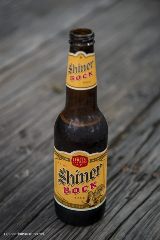 Shiner Bock beer bottle Historic Gruene Texas - ExplorationVacation.net