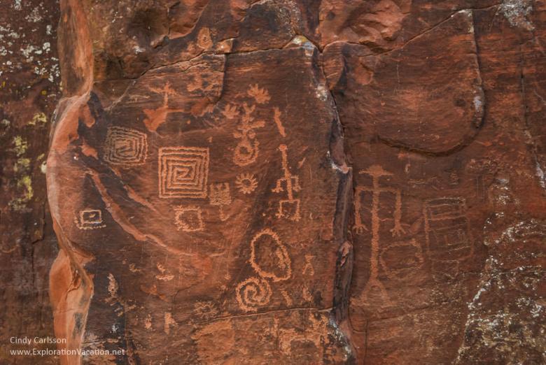 the rocks speak at the V Bar V petroglyphs Arizona ExplorationVacation.net