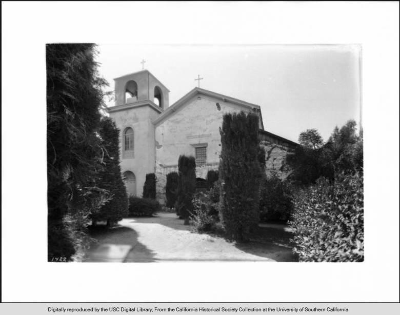 Mission San Juan Bautista in 1927