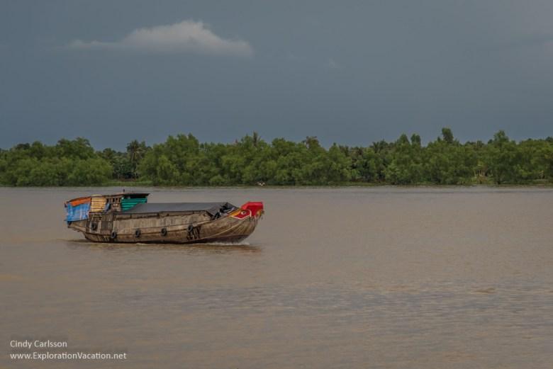 boat Mekong Delta Vietnam - ExplorationVacation.net