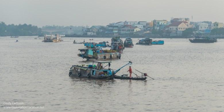boats Mekong Delta Vietnam - ExplorationVacation.net