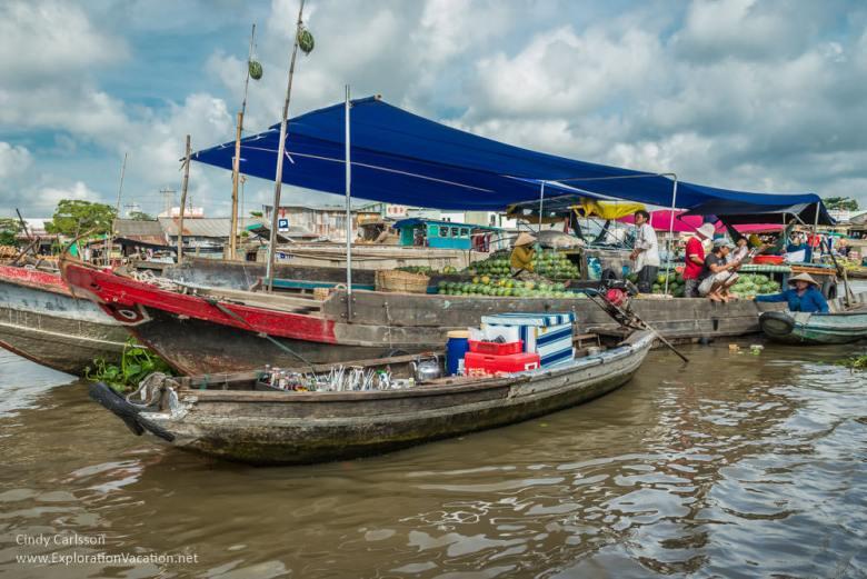 Cai Rang floating market Mekong Mekong Vietnam -ExplorationVacation.net