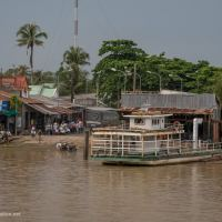 ferry station in the Mekong Delta Vietnam - ExplorationVacation.net