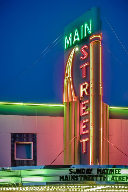 Main Street theater Sauk Centre MN - ExplorationVacation.net