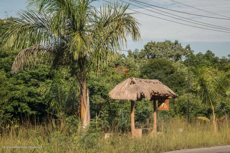 Bus stop in Tulum Mexico - ExplorationVacation.net