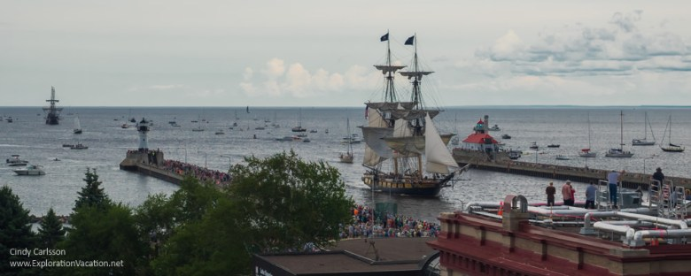 Duluth Tall Ship Festival US Brig Niagara in the canal - www.ExplorationVacation.net
