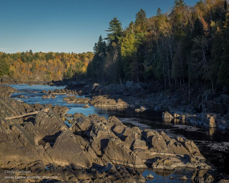 view from the swing bridge Minnesota's Jay Cooke State Park - www.ExplorationVacation.net