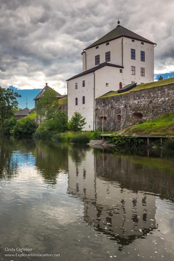 Scenery along the river in historic #Nyköping #Sweden - ExplorationVacation #VisitSweden #VisitSörmland #sponsored