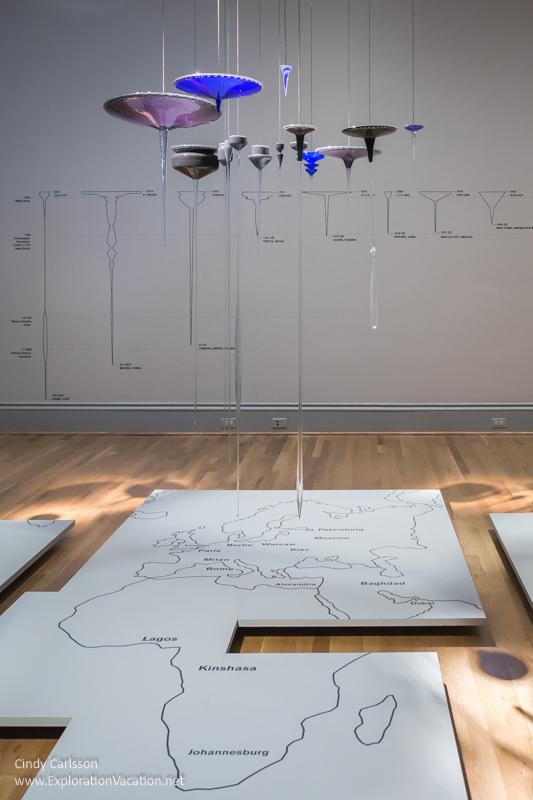 "Land use art by Norwood Viviano ""Global Cities"" Renwick Gallery Washington DC - www.ExplorationVacation.net"