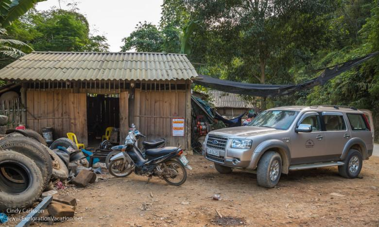 local garage Northern Vietnam - ExplorationVacation