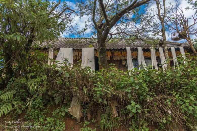 fabric Vietnam road trip Black Hmong village Sapa - ExplorationVacation