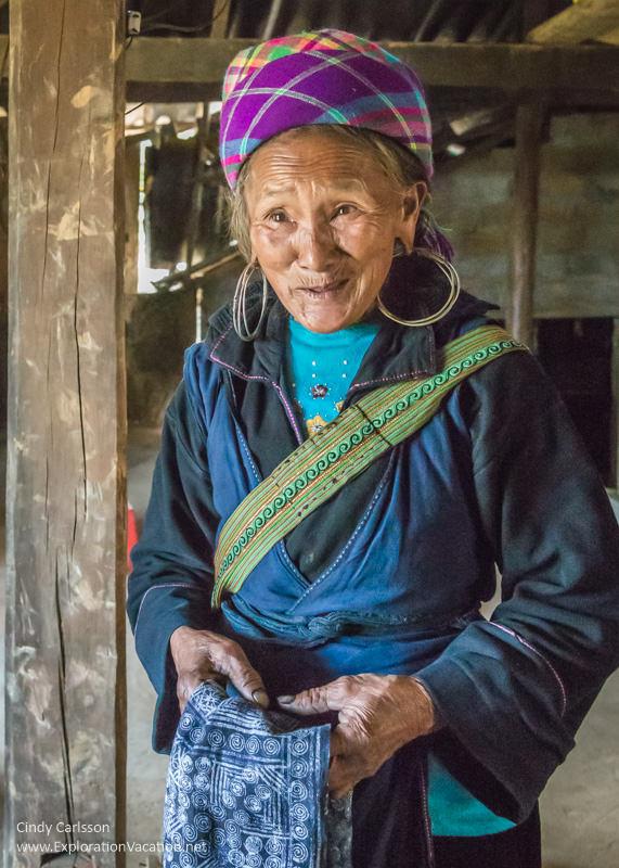Hmong woman Northern Vietnam road trip Black Hmong village Sapa - ExplorationVacation