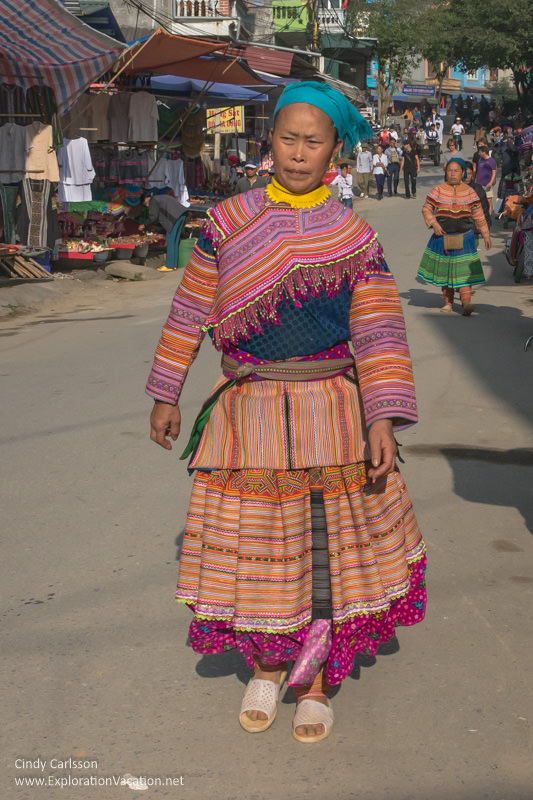Flower Hmong Bac Ha market Northern Vietnam road trip - ExplorationVacation