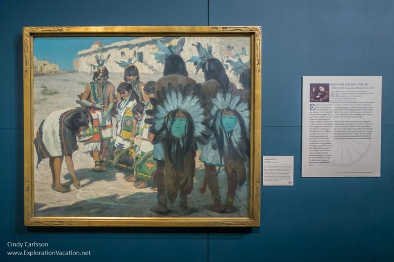 E. Irving Couse - Hopi Flute Dance 1903 Taos Society of Artists at Arizona's Western Spirit Scottsdale - www.ExplorationVacation.net