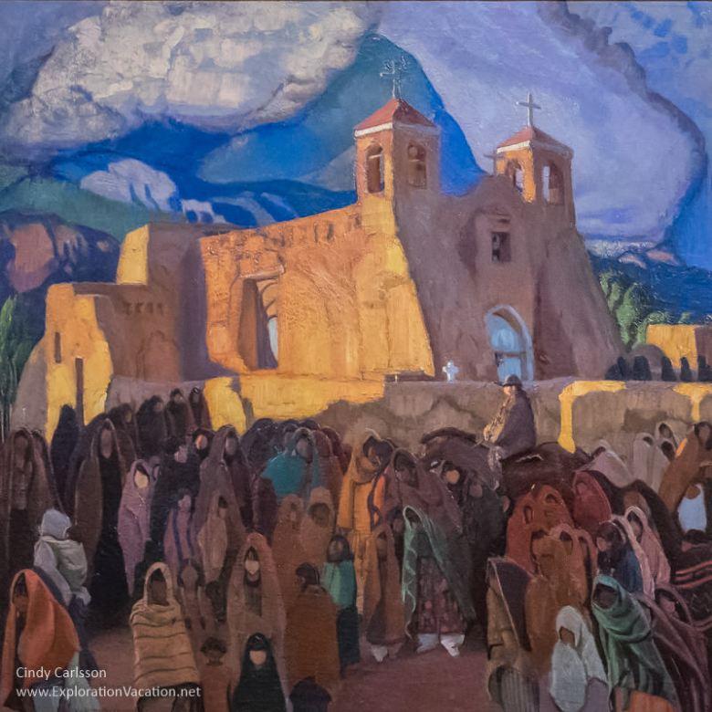Ernest L Blumenschein - Church at Ranchos 1921-1929 Taos Society of Artists at Arizona's Western Spirit Scottsdale - www.ExplorationVacation.net