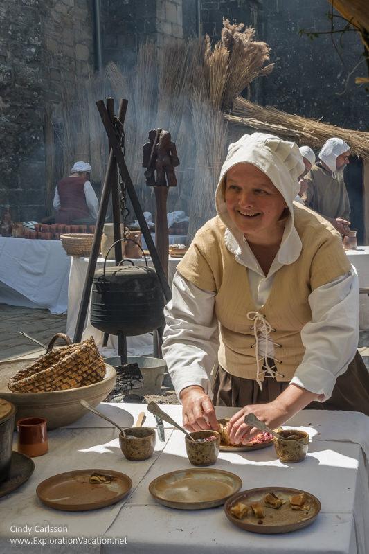 making crepes 2017 Guerande Medieval Festival France - www.ExplorationVacation.net