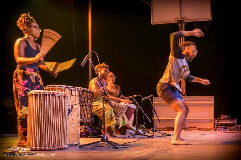 African drumming and dancing Little Mekong night market Northern Spark 2017 St Paul Minnesota - www.ExplorationVacation.net