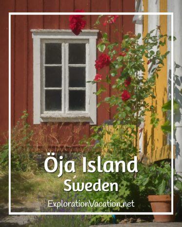 A painted garden in #Landsort on Oja Island in Sweden's Stockholm Archipelago - ExplorationVacation #VisitSweden #summergarden