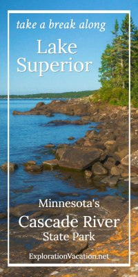 Picnic along Lake Superior or just play on the rocks at Minnesota's Cascade River State Park - ExplorationVacation.net
